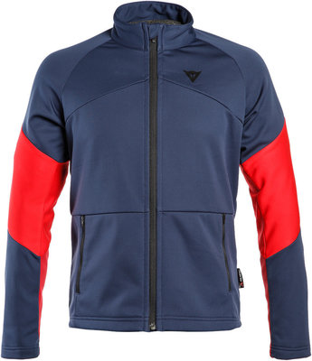 Dainese HP2 Mid Full Zip Mens Sweater Black Iris/Chili Pepper/High Risk Red XL