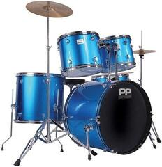 PP World 5 Piece Drum Kit Blue