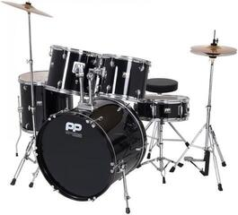 PP World 5 Piece Drum Kit Black