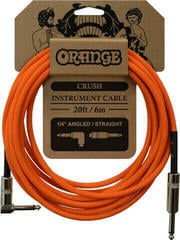 Orange Crush 20ft Instrument Cable Angled to Straight