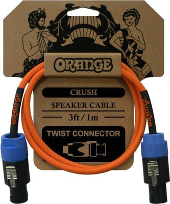 Orange Crush 3ft Speaker Cable Twist Connector to Twist Connector