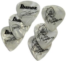 Ibanez 1000PG-PW Paul Gilbert Pick Set of 6 Pearl White