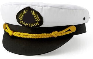 Nauticalia Captain Hat White/Navy