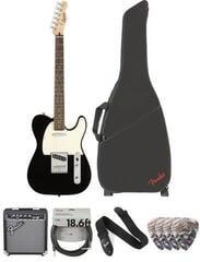 Fender Squier Bullet Telecaster IL Black Deluxe SET