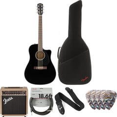 Fender CD-60SCE Dreadnought WN Black Deluxe SET