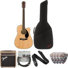 Fender CD-60SCE Dreadnought WN Natural Deluxe SET