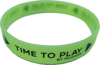 Muziker Wristband Glow in the Dark Green