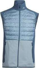 J.Lindeberg Hybrid Mixed Poly Mens Vest Granite Melange