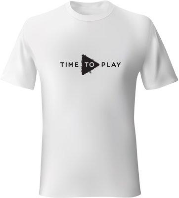 Muziker Póló Time To Play White/Black S