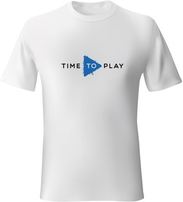 Muziker Koszulka Time To Play White/Blue XL