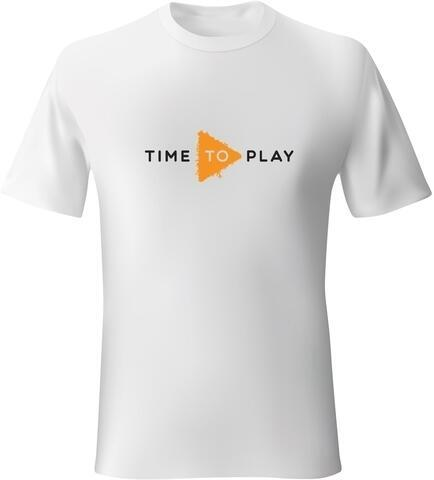 Muziker Time To Play T-Shirt White/Orange XL