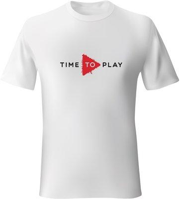 Muziker Tričko Time To Play White/Red S