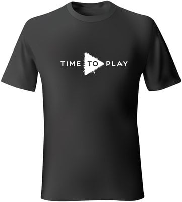 Muziker Time To Play T-Shirt Black/White S