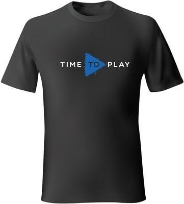 Muziker Póló Time To Play Black/Blue XL