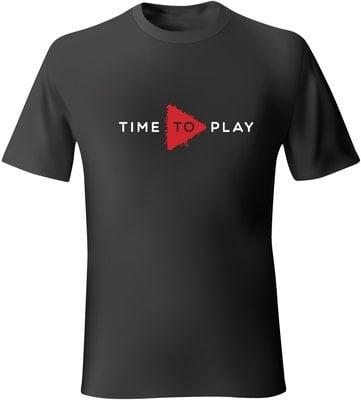 Muziker Majica Time To Play Black/Red 2XL