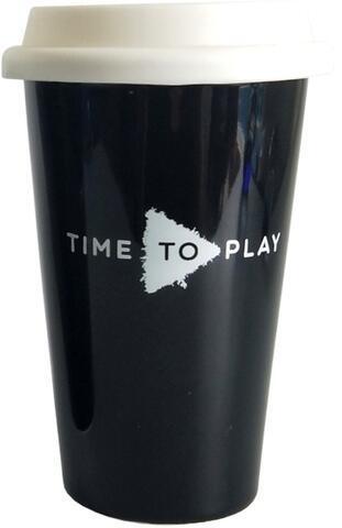 Muziker Ceramic Travel Cup White