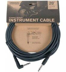 D'Addario Planet Waves CGTRA Instrument Cable Black/Straight - Angled