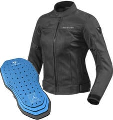 Rev'it! Jacket Eclipse Ladies Black Lady 36 Protector 03SET