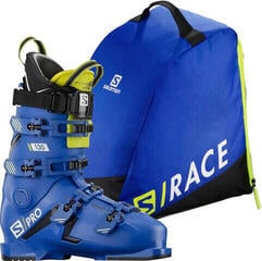 Salomon S/PRO 130 Black/Race Blue/Acid Green 26/26,5 SET