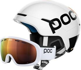 POC Obex Backcountry Spin Ski Helmet Hydrogen White/Fluorescent Orange XS/S SET