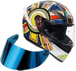 AGV K1 Dreamtime ML Visor Iridium Blue SET