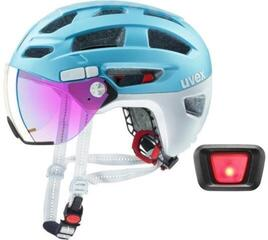 UVEX Finale Visor Strato Cool Blue 52-57 Led SET