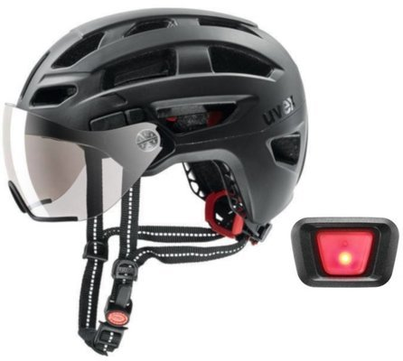 UVEX Finale Visor Black Matt 52-57 Led SET