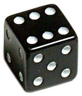 Oxford Luck Dice Valve Caps Black