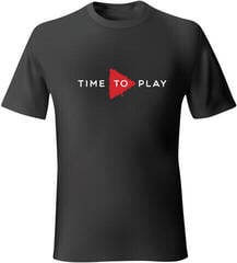 Muziker Tricou Time To Play Black/Red XL