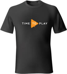 Muziker Time To Play T-shirt Black Black/Orange