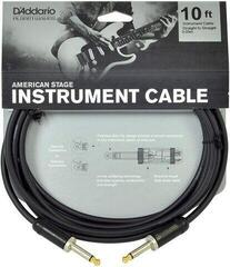 D'Addario Planet Waves AMSG Instrument Cable Fekete/Egyenes - Egyenes