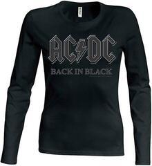 AC/DC Back In Black Girls Baseball Long Sleeve Black