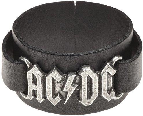 AC/DC Logo Leather Wriststrap