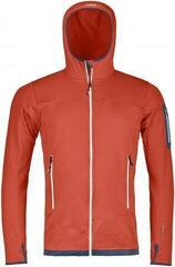 Ortovox Fleece Light Mens Hoody Crazy Orange