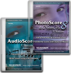 AVID PhotoScore & NotateMe Ultimate 8 & AudioScore Ultimate 8
