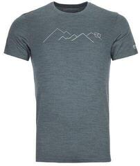 Ortovox 185 Merino Mountain Mens T-Shirt Green Forest Blend
