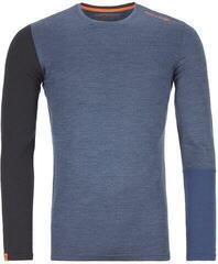 Ortovox 185 Rock 'N' Wool Mens Long Sleeve Shirt Night Blue Blend