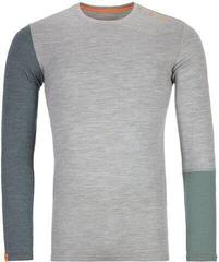 Ortovox 185 Rock 'N' Wool Mens Long Sleeve Shirt Grey Blend