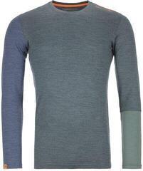 Ortovox 185 Rock 'N' Wool Mens Long Sleeve Shirt Green Forest Blend