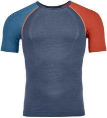 Ortovox 120 Comp Light Mens Short Sleeve Shirt Night Blue