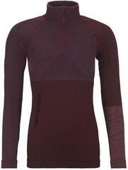 Ortovox 230 Competition Womens Zip Neck Dark Wine Blend