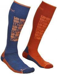 Ortovox Ski Compression Mens Socks Night Blue
