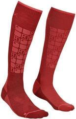 Ortovox Ski Compression Womens Socks Dark Blood