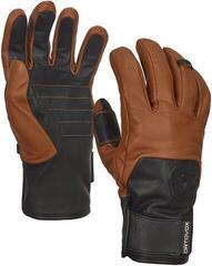 Ortovox Swisswool Leather Mens Gloves Brown