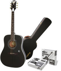 Epiphone PRO-1 Plus Acoustic Ebony/Set