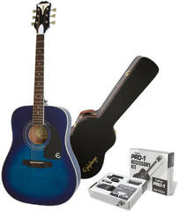 Epiphone PRO-1 Plus Acoustic Blue Burst/Set