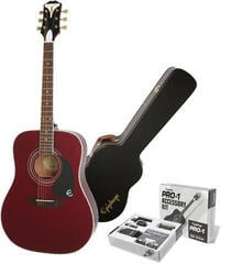 Epiphone PRO-1 Plus Acoustic Wine Red/Set