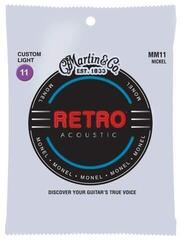 Martin MM11 Retro Acoustic Guitar Strings, Custom Light