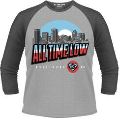 All Time Low Baltimore 3/4 Sleeve Baseball Tee Grey