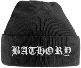 Bathory White Logo Embroidered Knitted Ski Hat
